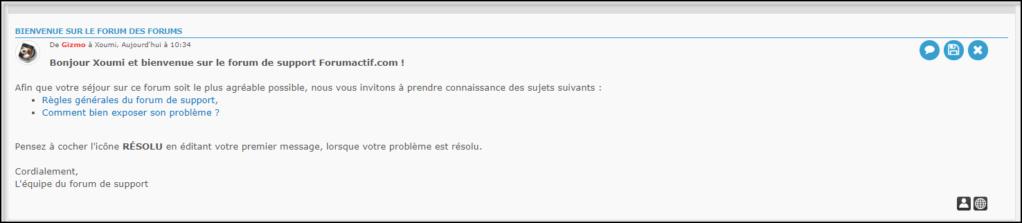 Gestion de la messagerie Privée (MP) 19-08-71