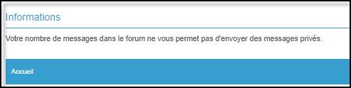 Gestion de la messagerie Privée (MP) 19-08-72