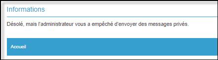 Gestion de la messagerie Privée (MP) 19-08-73