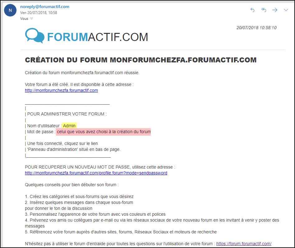 Créez votre Forum Forumactif de A à Z 20-07-15