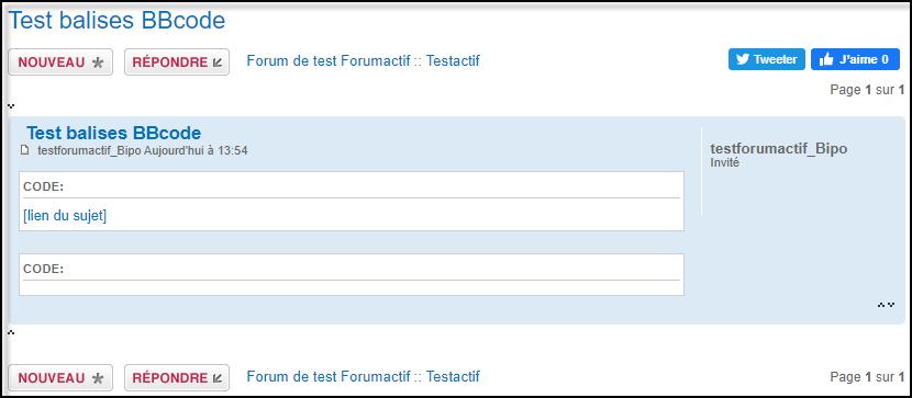 [code] n'affiche plus le BBcode dans les messages invités 21-06-11