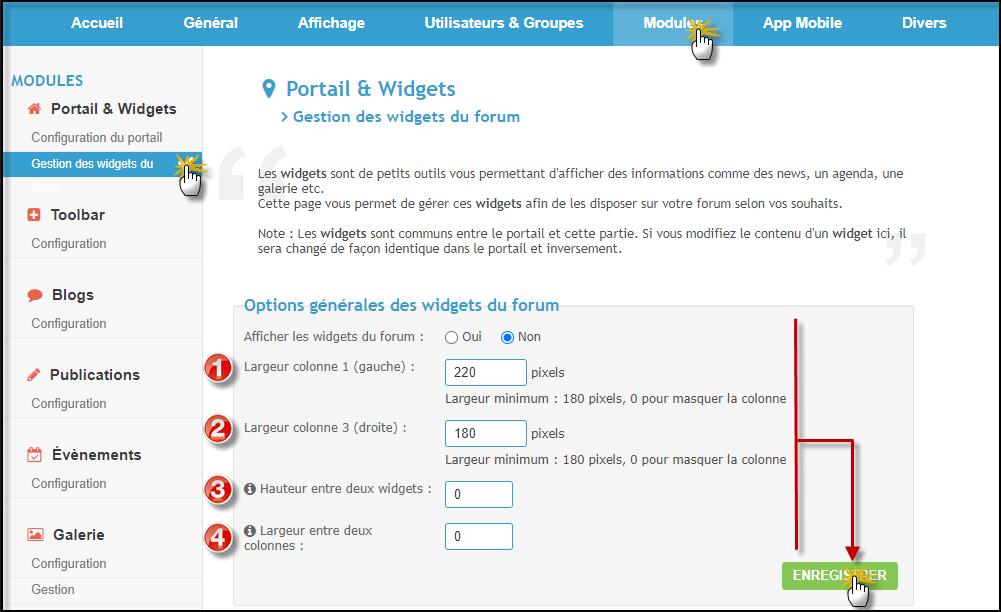 Installation, modification de widgets 27-06-11