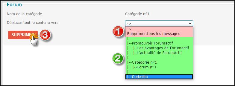 Supprimer un forum, une catégorie ou le forum entier 27-06-22