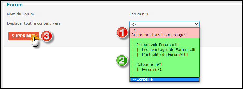 Supprimer un forum, une catégorie ou le forum entier 27-06-23