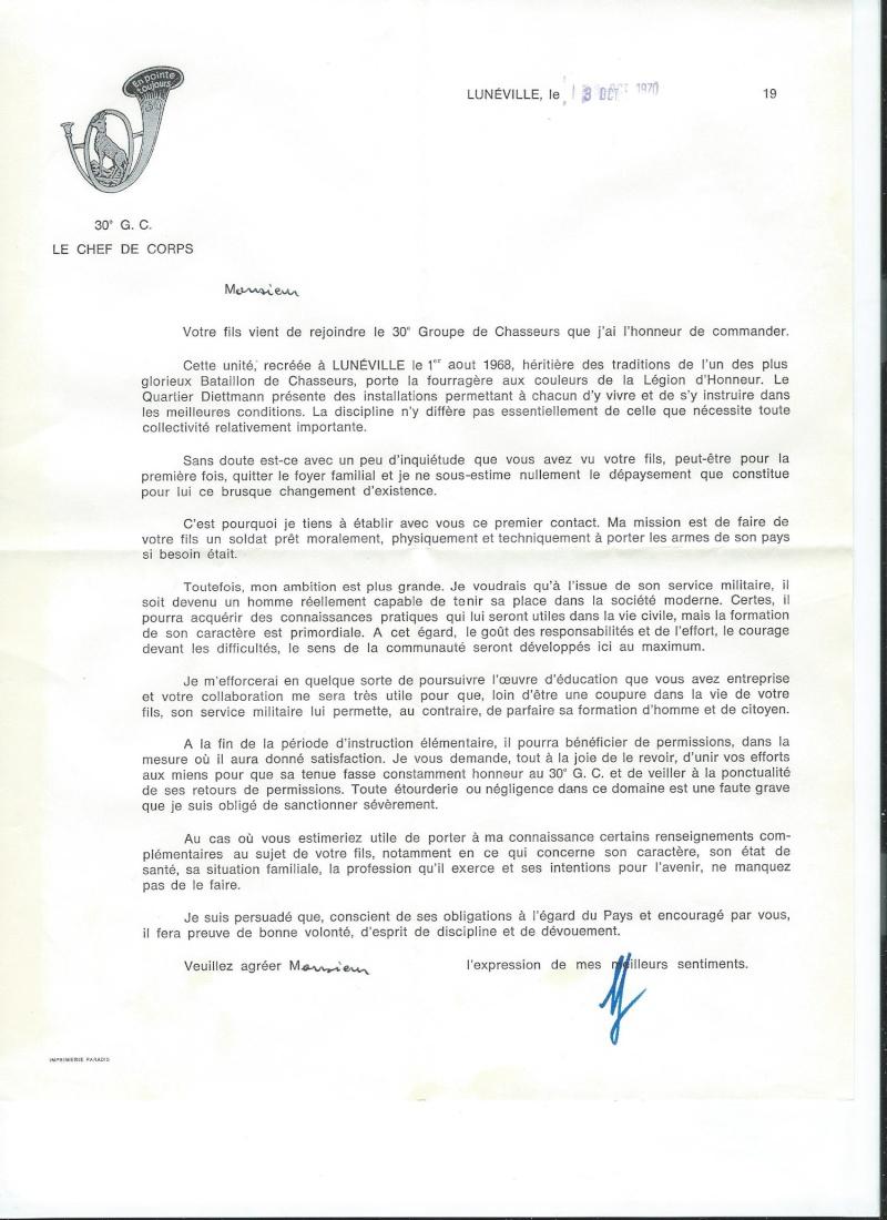 la lettre du Père du bataillon à mon Père ! Courri10