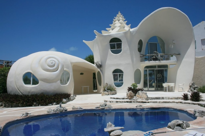 The shell house, Isla Mujeres, Mexique Shell_12