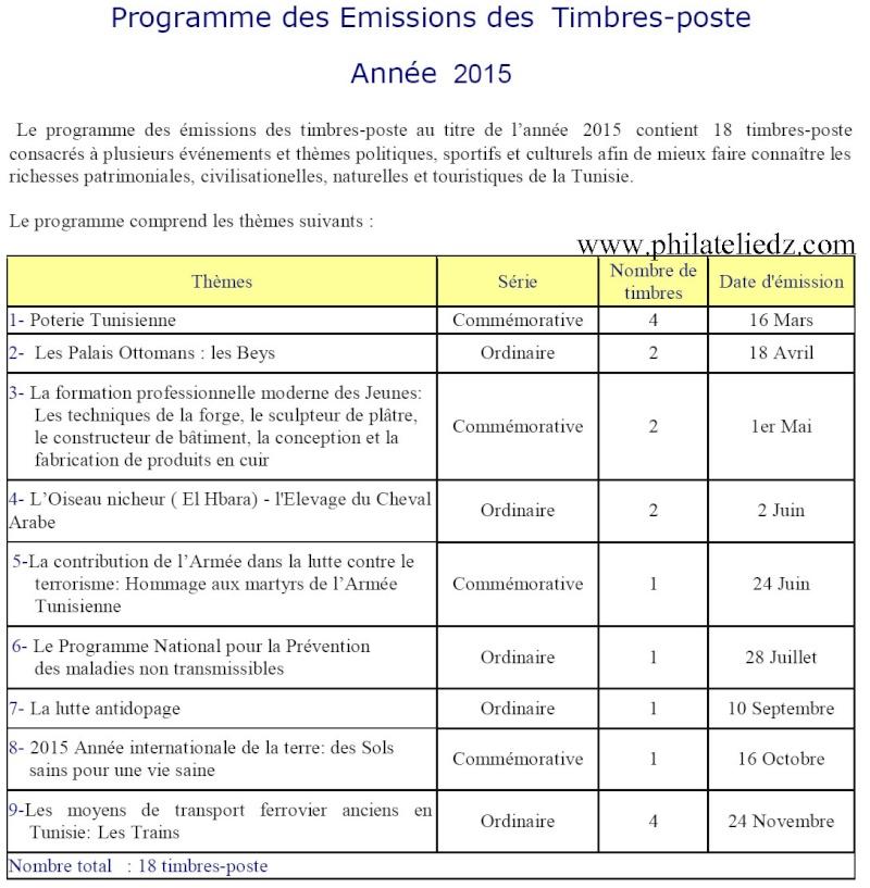 Tunisie : programme des émissions 2015 Progra13