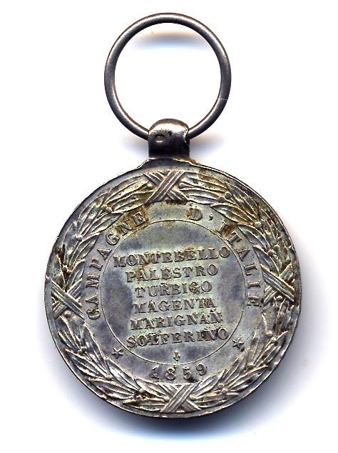 Guerre de Crimée et la médaille de la campagne d'Italie contre les Autrichiens  Solfer11