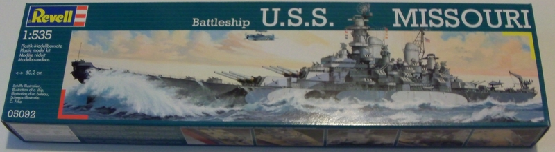 USS MISSOURI 1/535 - Revell Boite10