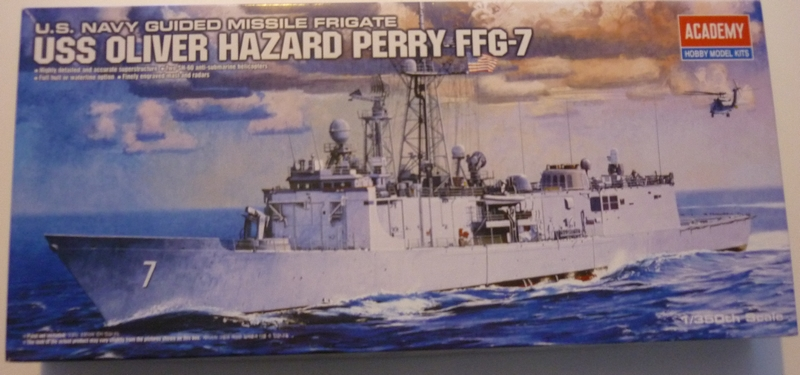 USS Oliver Hazard Perry FFG-7 1/350 - Academy Boite12