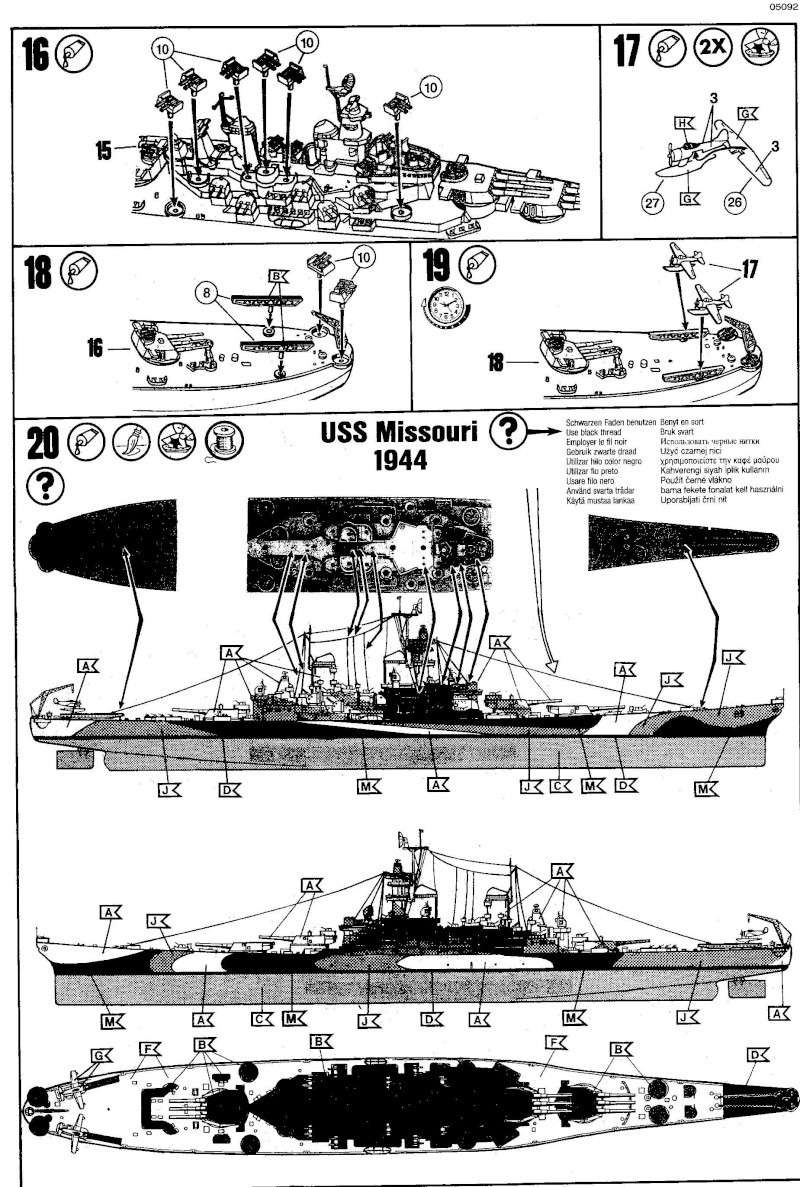 USS MISSOURI 1/535 - Revell Img18110