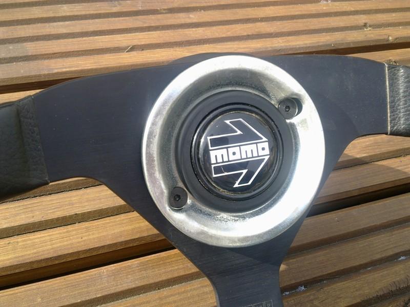 Momo V35 wheel and boss - a classic 80/90's wheel - MINT! Momo_410