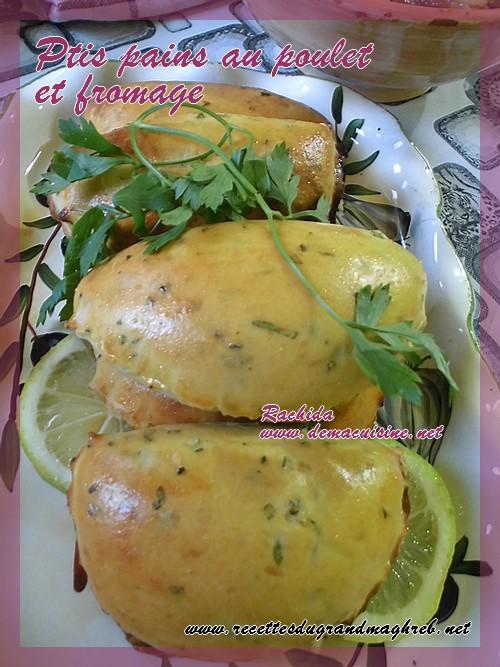 Ptis pains au poulet et fromage Pain10