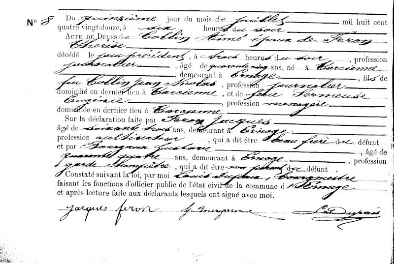 Famille COLLIN - FERON Sf01c510