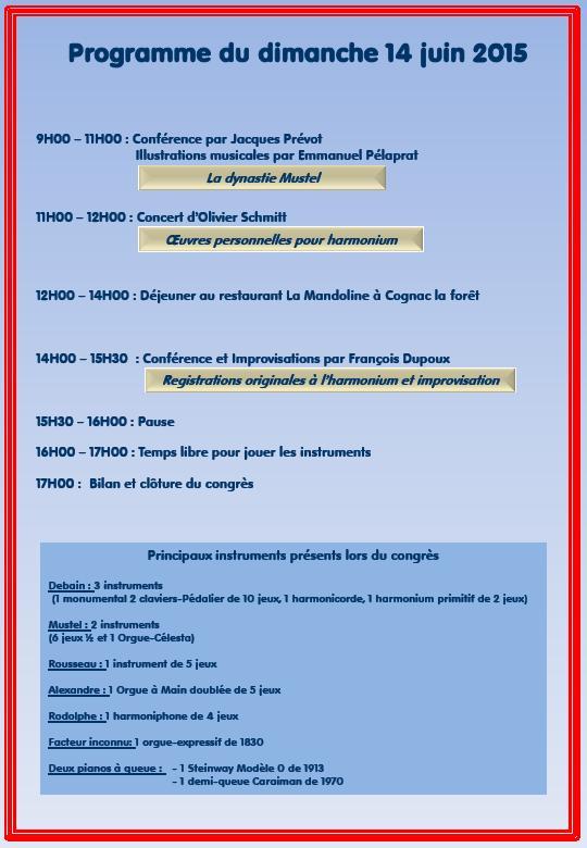 Congrès national sur l'harmonium, 13 et 14 juin 2015 Congre12