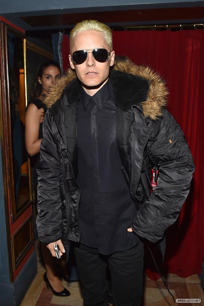 Jared Leto @ After Balmain show dinner 05 Mars 2015 000410