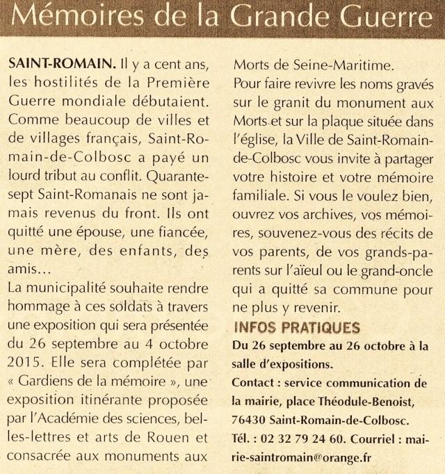 Saint-Romain-de-Colbosc - Mémoires de la Grande Guerre 2015-037