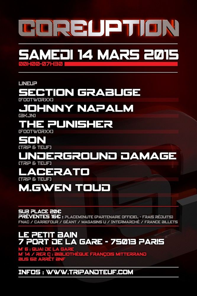 [ COREUPTION - 14 Mars 2015 - Le Petit Bain - Paris - FR ] Coreup13