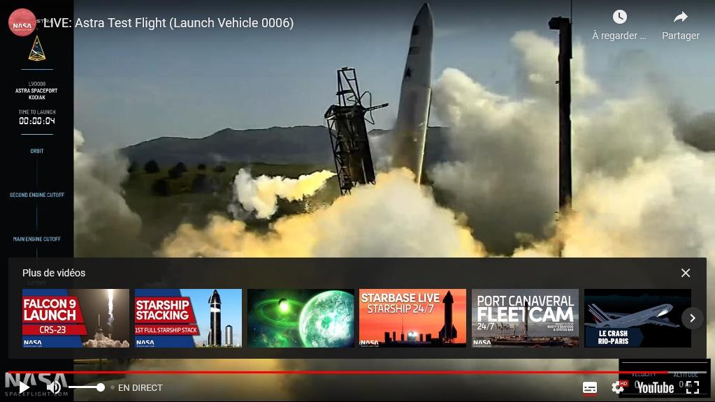 [Astra Space] Rocket 3.3 - Kod - 27.8.2021 [Echec] Rocket11