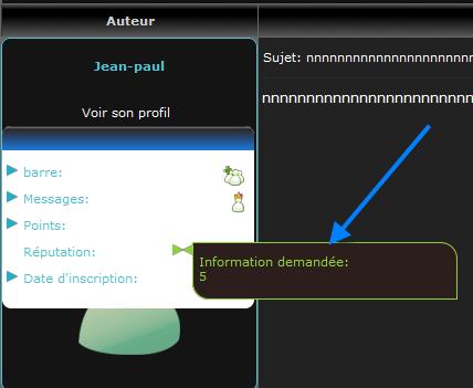 [PHPBB2] Afficher les informations du profil des messages avec plusieurs infobulles 310