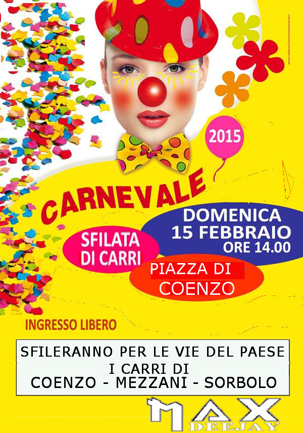 SFILATA CARRI DI CARNEVALE A COENZO (PARMA BY MAX DEEJAY Carnev12