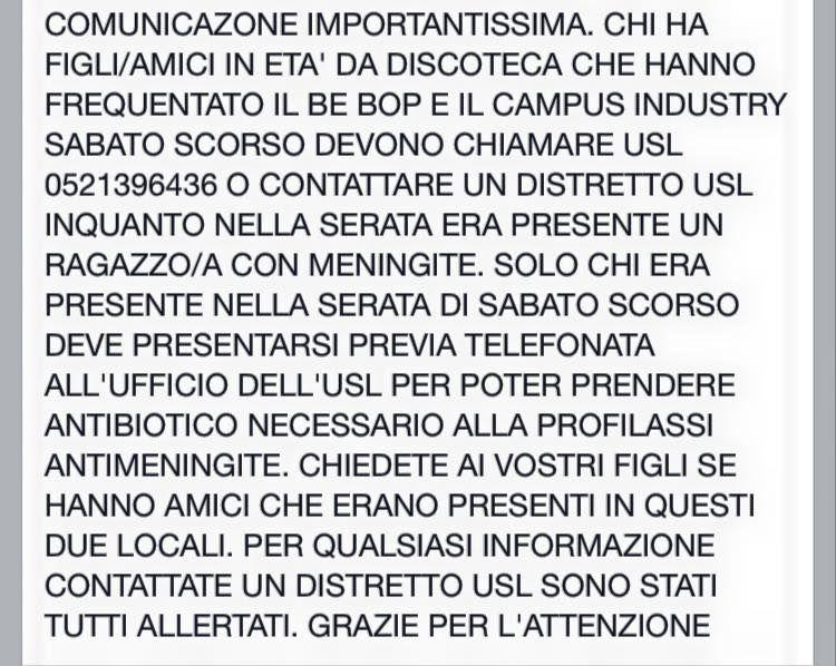 Caso di Meningite in 2 locali di Parma Mening10