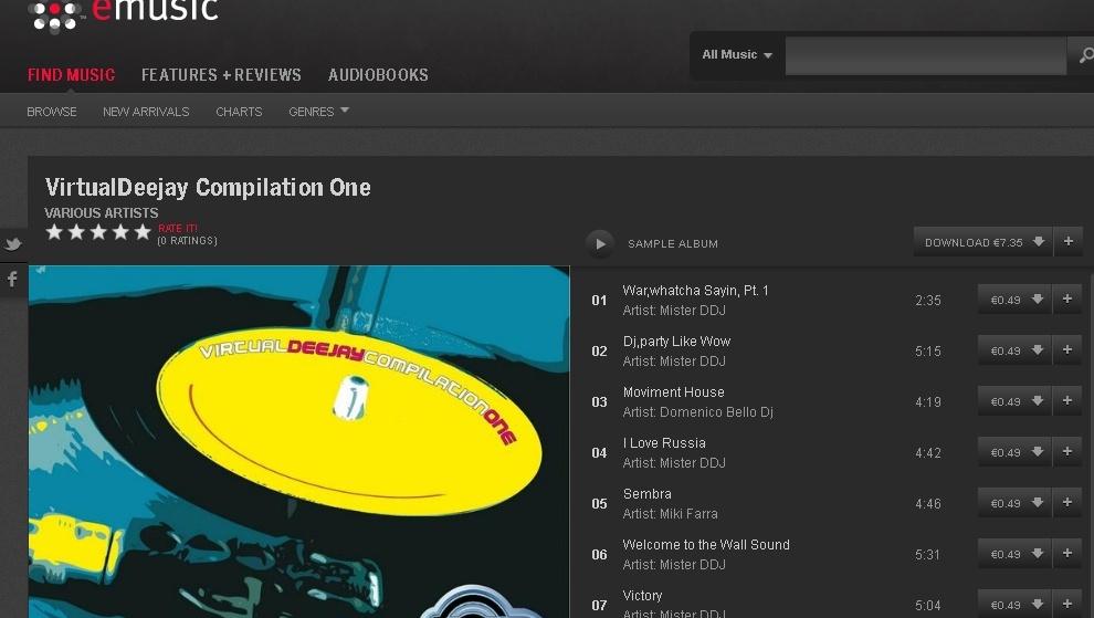 """Virtualdeejay Compilation One"" sui portali musicali Virtua10"