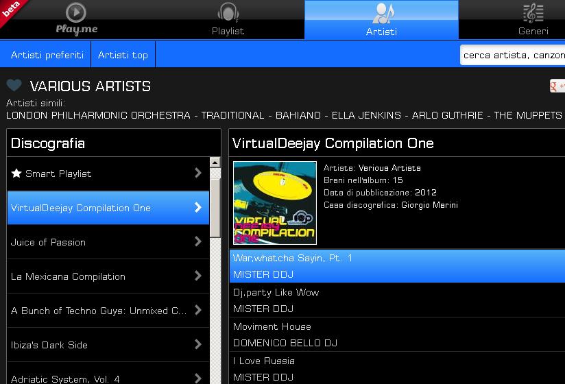 """Virtualdeejay Compilation One"" sui portali musicali Virtua12"