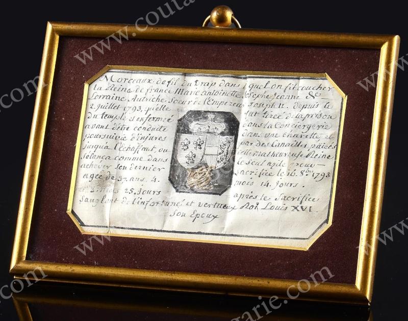 Fragment de drap utilisé à la prison du Temple 14242711