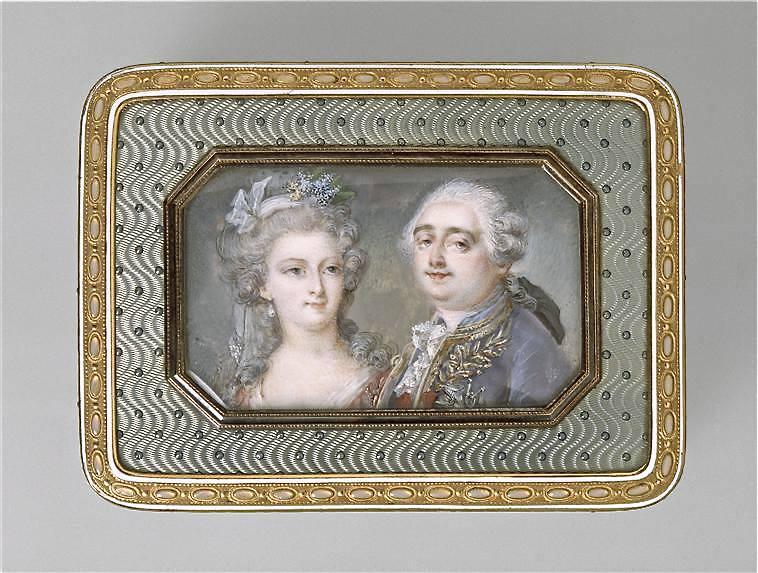 Portraits de Marie-Antoinette sur les boites et tabatières L_xvi_10