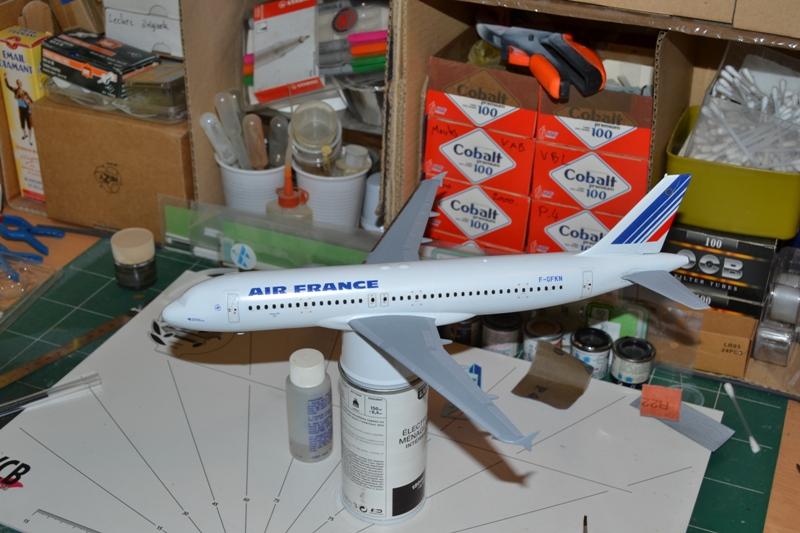AIRBUS A 320-211 Cie AIR FANCE 1/125ème Réf 80448 0010