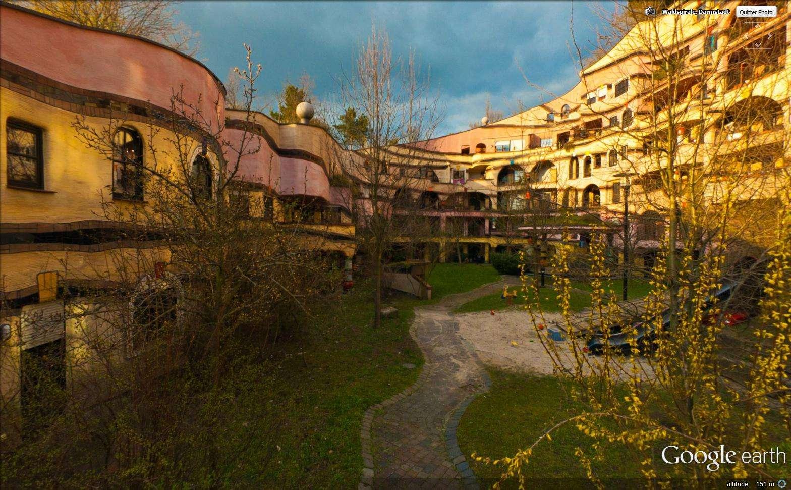 La forêt en spirale (ou Waldspirale) à Darmstadt - Allemagne Sans_104