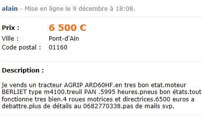 Les AGRIP en vente sur LBC, Agriaffaires ou autres Captu481