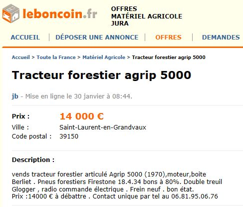 Les AGRIP en vente sur LBC, Agriaffaires ou autres Captu730