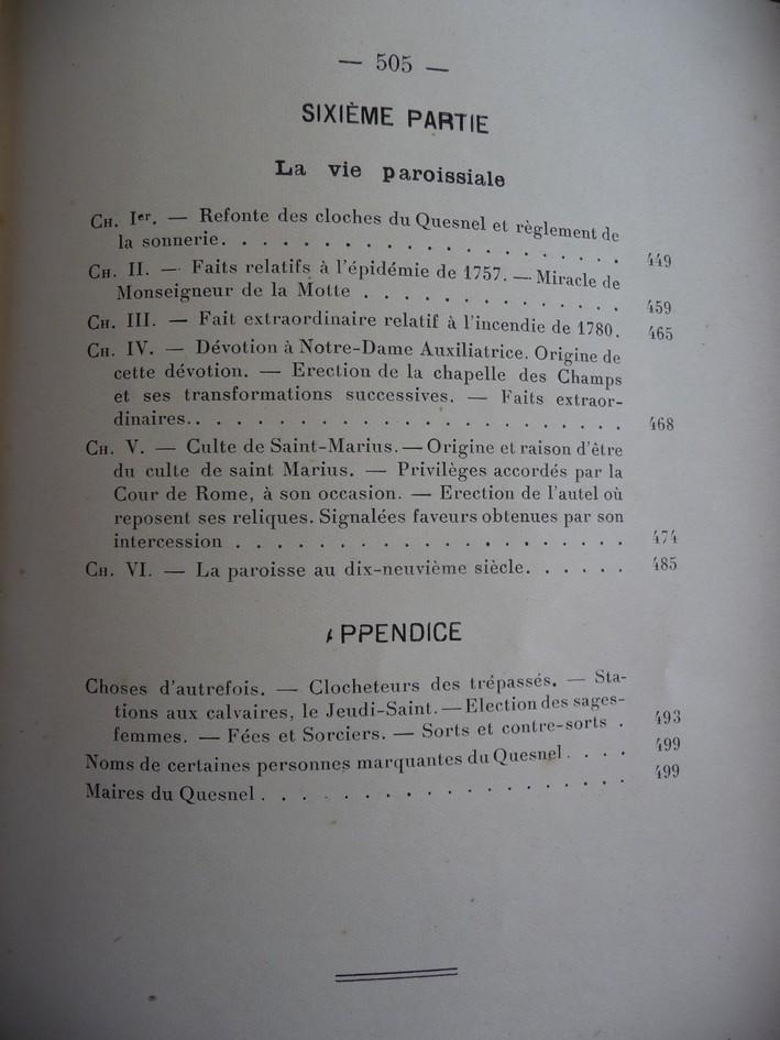 les LIVRES sur LE QUESNEL Monogr15