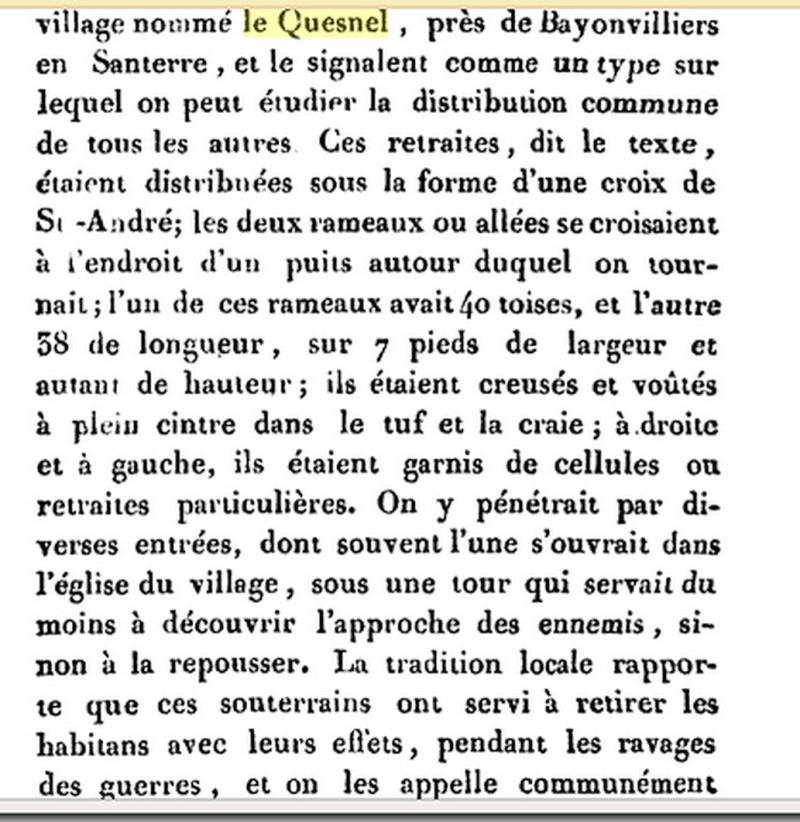 Les sous terrains  refuges de Le Quesnel (souterrains) Sans_t13