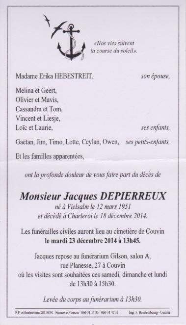 Décès du membre Jacques Depierreux - Page 2 Jacque10