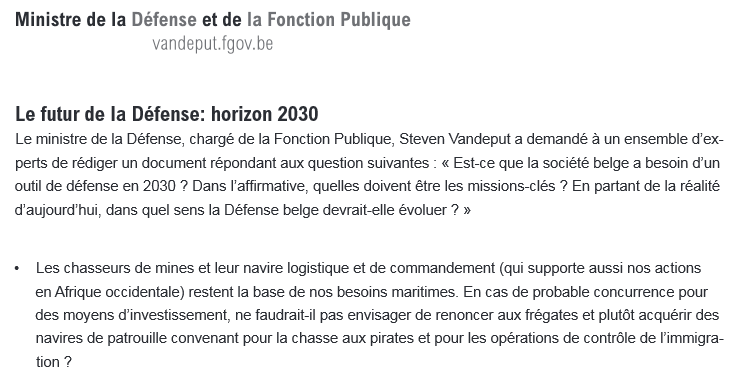 Plan stratégique et marine belge horizon 2030 Plan010
