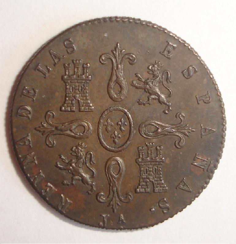 4 Maravedís. Isabel II. 1849. Jubia Dsc06611
