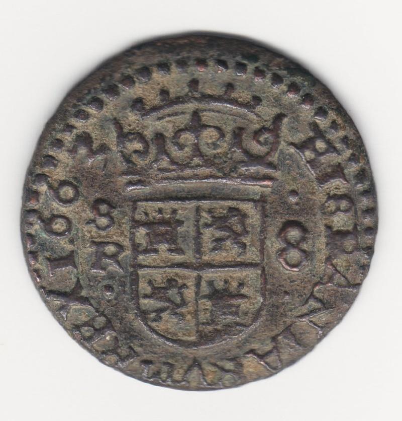 8 maravedis 1663. Felipe IV. Sevilla. Img74410