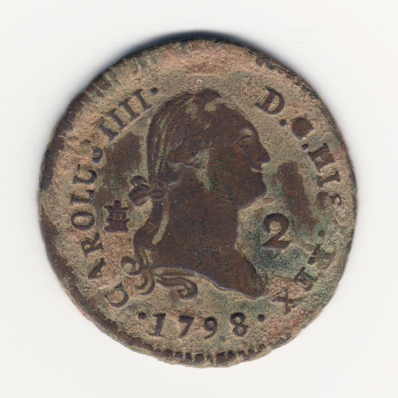 2 Maravedís. Carlos IV. 1798. Segovia Img75910