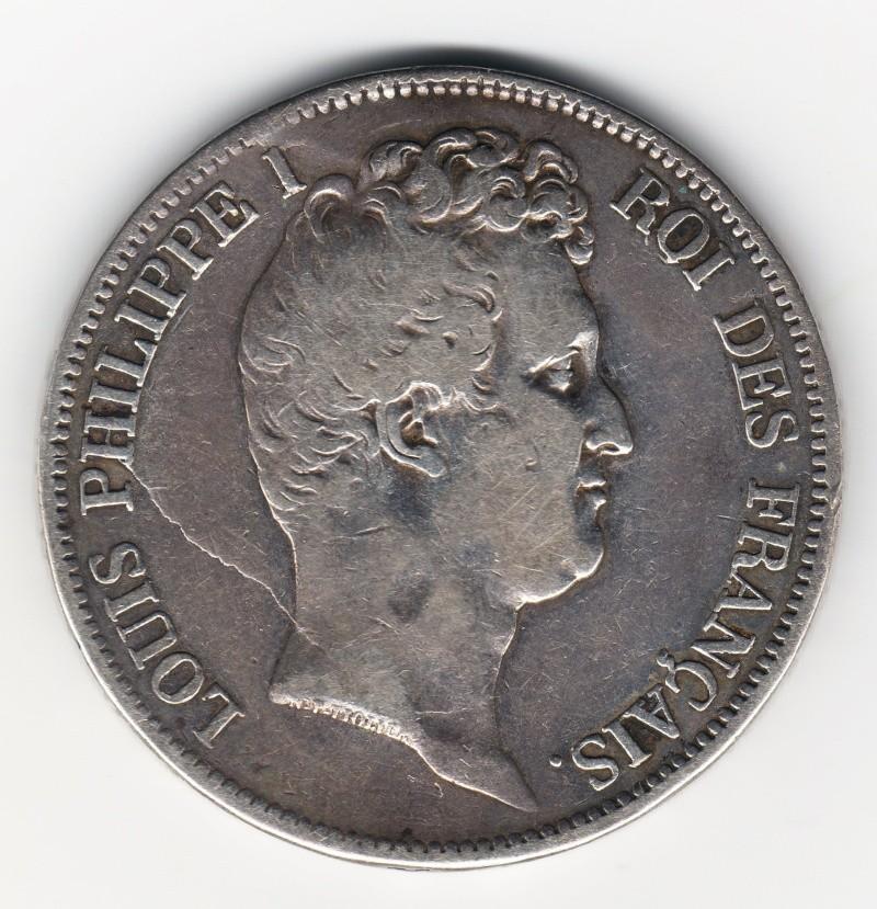 5 Francs. Francia. 1831. Rouen Img77410