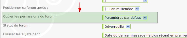 Nouveau: formulaire de contact + la copie des permissions font leur apparition sur forumactif 210