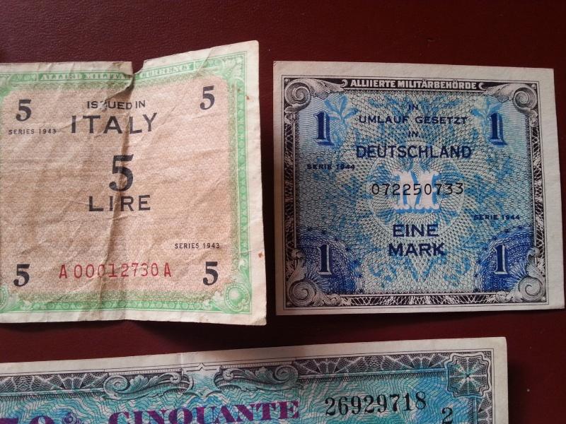 Ma collection de pieces et de billets WWII 20141211