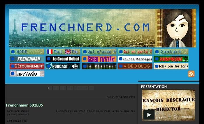 Les différentes versions du blog Frenchnerd V1_9m10