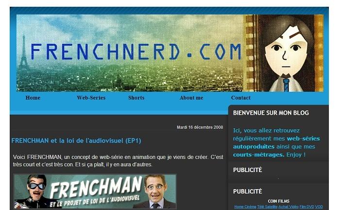 Les différentes versions du blog Frenchnerd V1m10