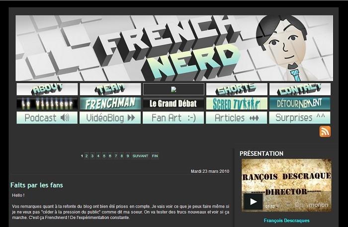 Les différentes versions du blog Frenchnerd V2_0m10