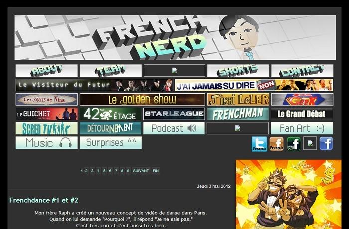Les différentes versions du blog Frenchnerd V2_9m10