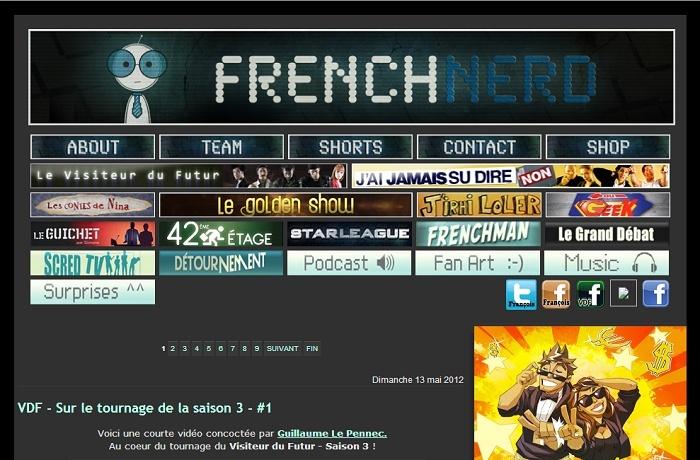 Les différentes versions du blog Frenchnerd V3_0m10