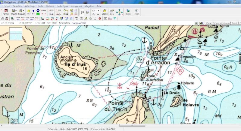 OziExplorer et ses liaisons cartographiques Captu101